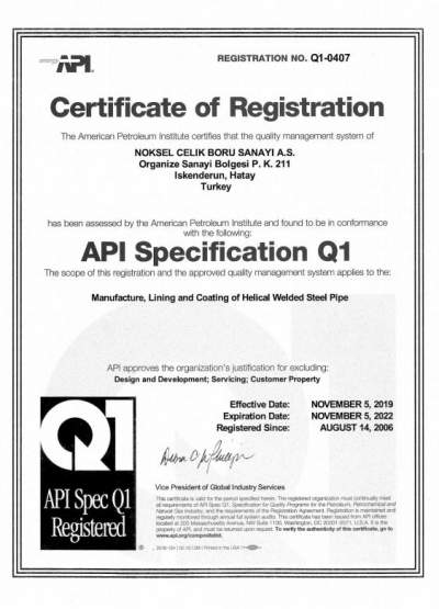 API SPECIFICATION Q1/0407 İSKENDERUN